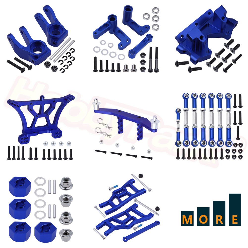 Metal Aluminum Upgrade Parts For Traxxas Slash 2WD 1/10 Short Course RC Model Car Replacement Navy Blue