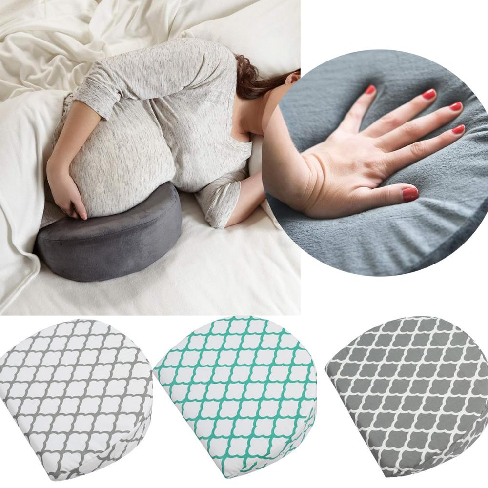 pregnancy pillow wedge for maternity women sleepers cotton memory foam soft side pillows support body baby breastfeeding pillow