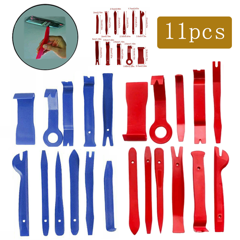 11Pcs/set Blue/Red Optional Car Interior Trim Wedge Mounting Lever Plastic Wedge Mounting Wedge Tool Plastic