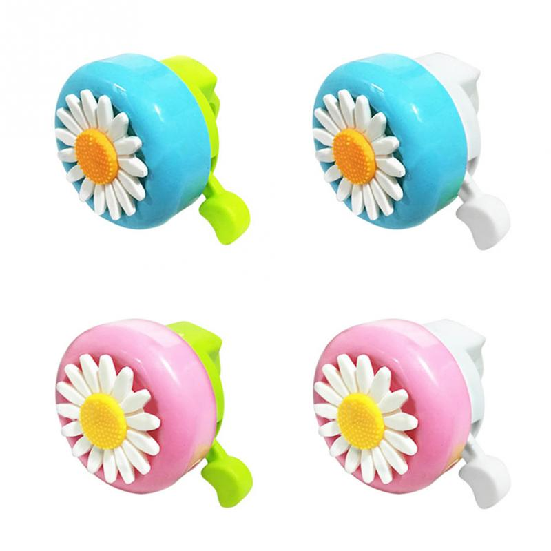 Kids Cute Bicycle Bell Horns Bike Daisy Flower Children Girls Cycling Ring Alarm for Handlebars Multi-color bicycle accessories