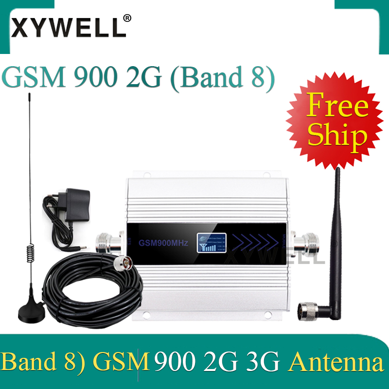 Big Sale!! gsm signal booster UMTS 900 3g signal booster 2G GSM 900 MHz Cellular Signal Repeater Amplifier With Sucker Antenna 1