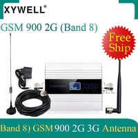 Grande venda!! Amplificador celular do repetidor do sinal com antena do otário amplificador do impulsionador do sinal de gsm umts 900 3g 2g gsm 900 mhz