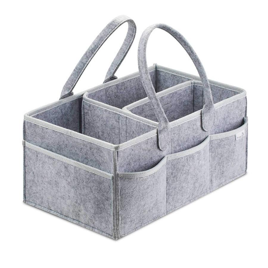 Baby Diaper Caddy Portable Holder Bag Felt Storage Bag Toy Multifunctional Storage Bag Nursery Essentials Storage Bins