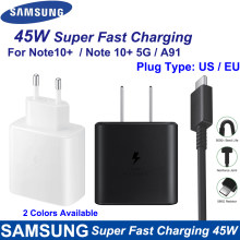 Samsung Note10 Plus Eu/Ons Super Snelle Charger Travel Usb Pd Pss Snel Opladen Adapter EP-TA845 Voor Galaxy A91 a71 S20 + 15V3A 45W