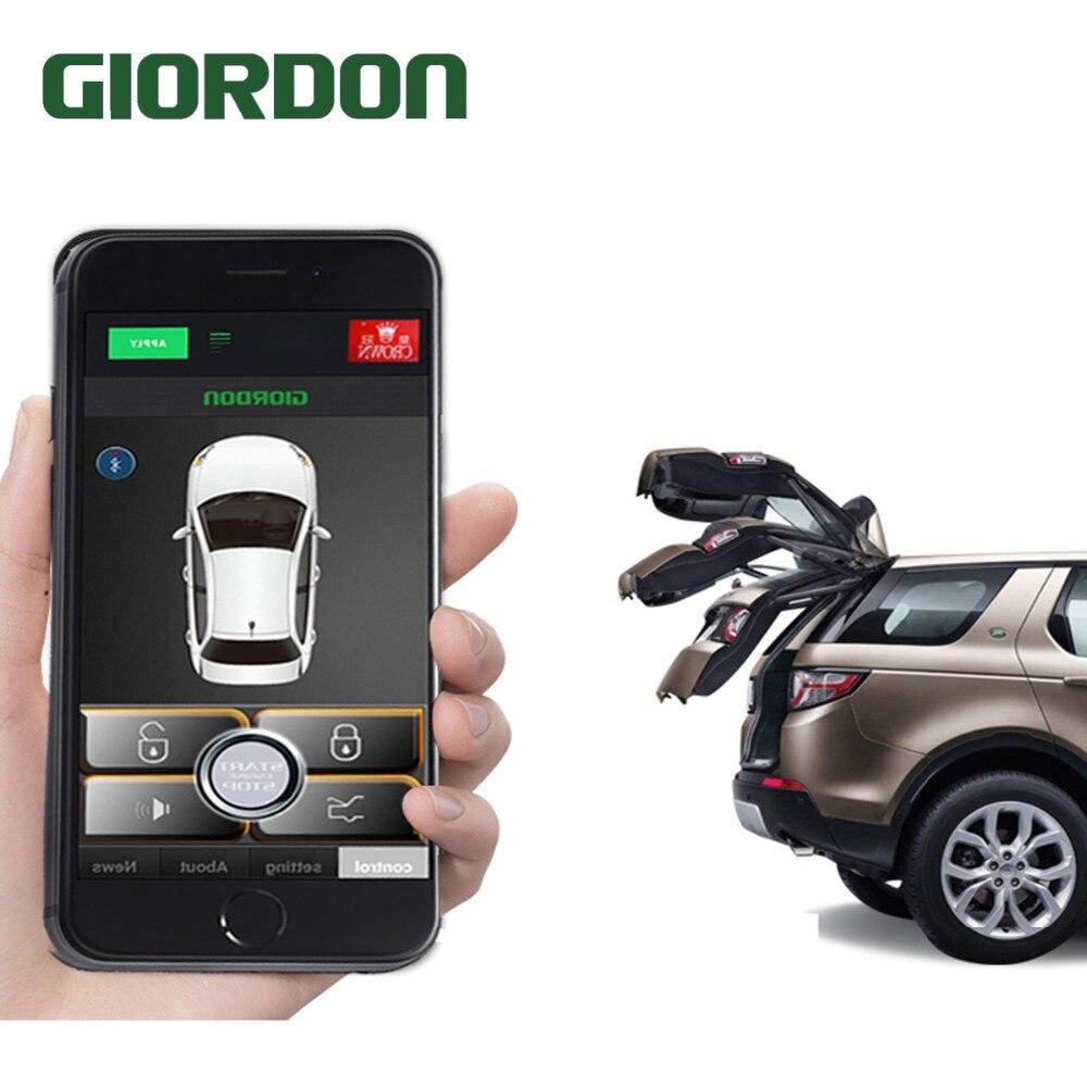 Entrada keyless bloqueio central botão de ignição fechadura da porta de alarme de carro universal smartphonepke controle sistema de alarme de carro 686b