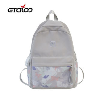 2020 Large Capacity Women Student Bag Student Backpack Fashion Computer Backpack Casual Girl Red College Style BackPack Travel oxford cloth waterproof unisex large capacity student backpack simple casual backpack college style gray