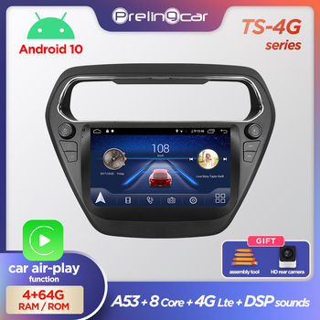 prelingcar Android 10.0 System Car IPS Touch Screen Stereo for Foreus Escort player Stereo with buttons navigation system image