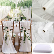 5/10 m brilho branco cristal tule organza rolo tecido gaze pura para festa de casamento decoração diy festa aniversário suprimentos