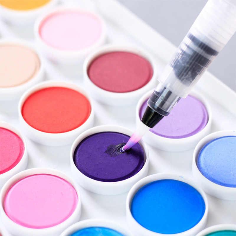 1 adet taşınabilir resim kalemi su renk fırça kalem yumuşak suluboya fırçası kalem acemi boyama çizim sanat malzemeleri