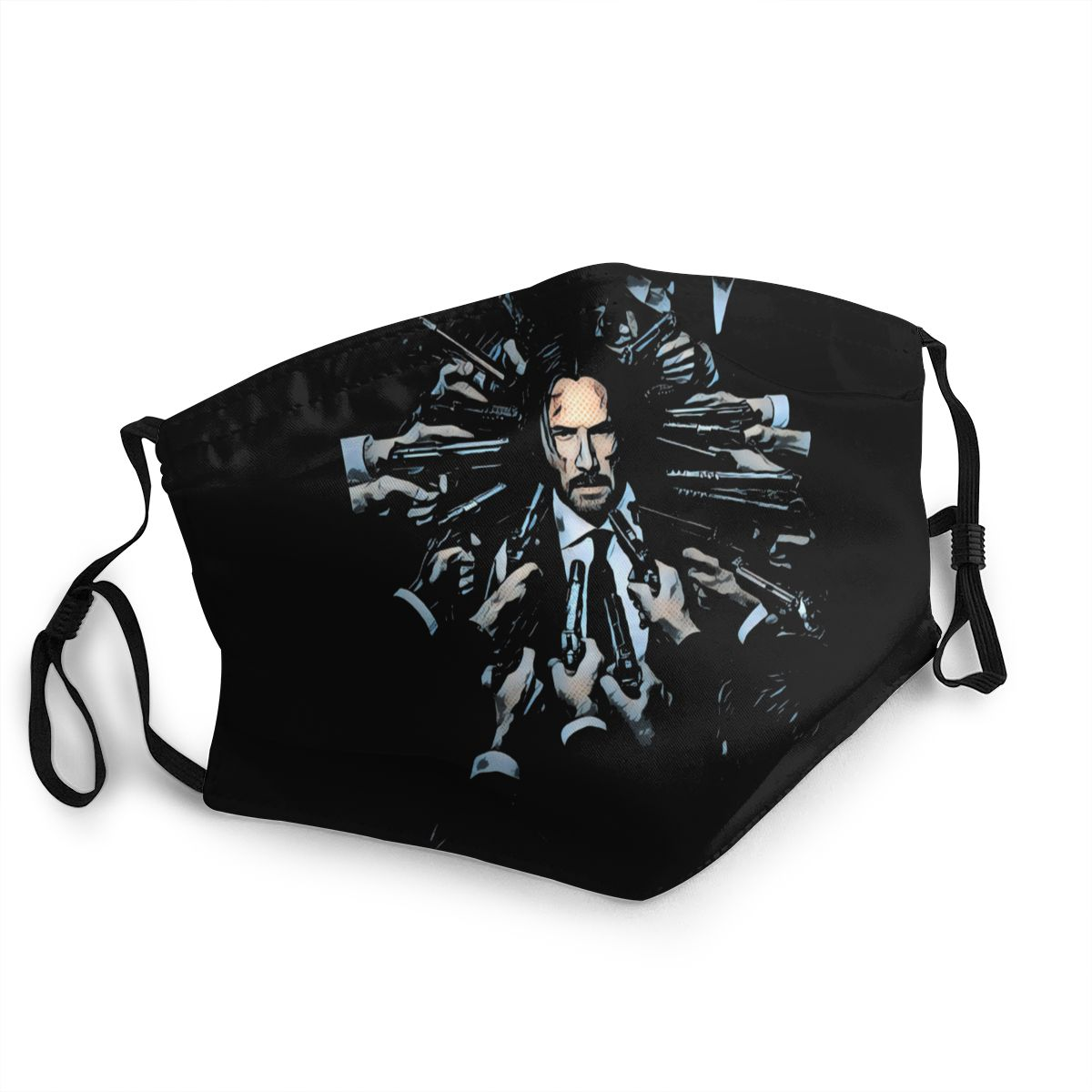 John Wick Men Women Reusable Mouth Face Mask Anti Bacterial Dust Mask Protection Cover Respirator Mouth Muffle