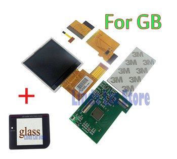 For Nintendo Gameboy backlight lcd screen High Brightness LCD with black glass screen lens Replacement for GB DMG GBO Console