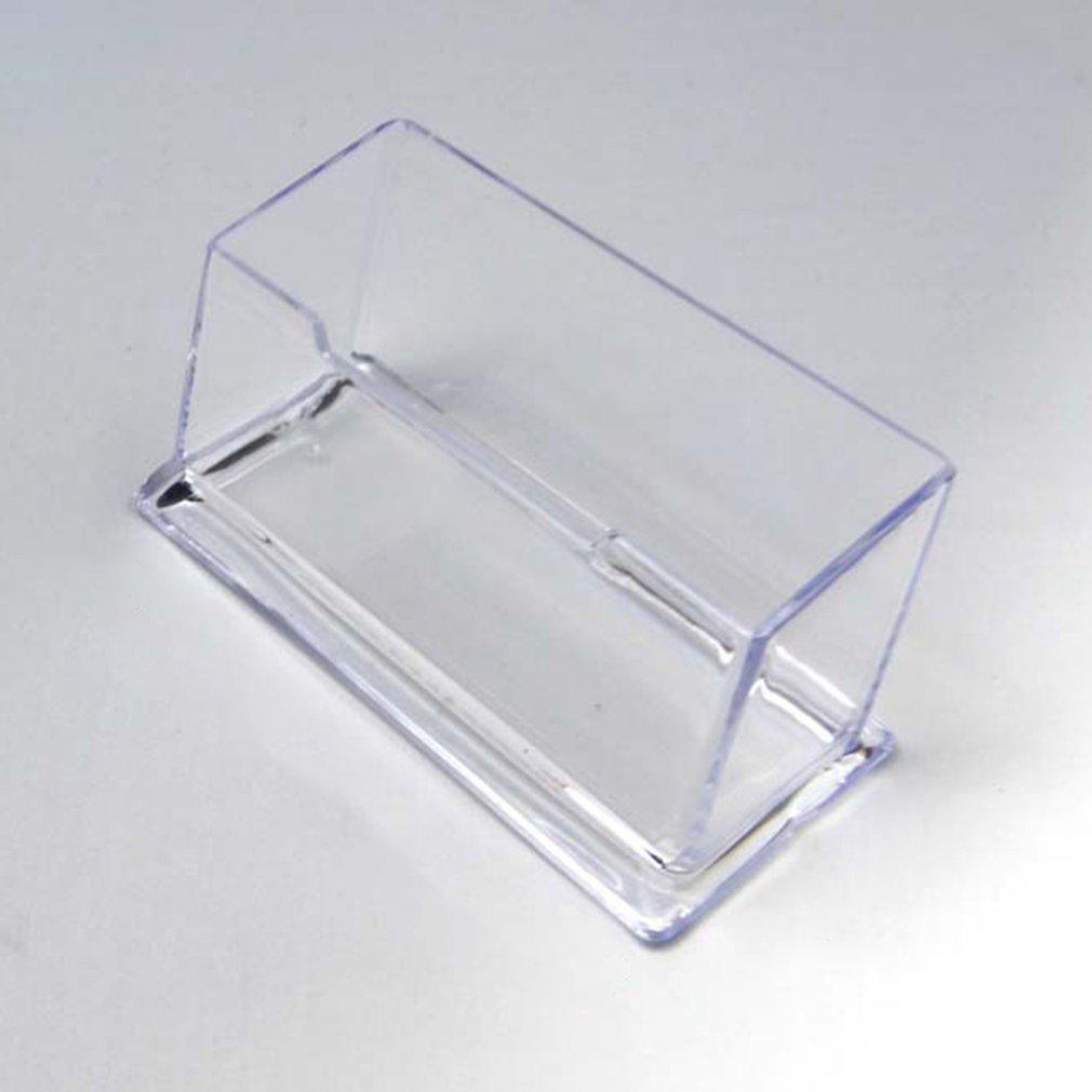 Clear Desk Shelf Storage Display Stand Acrylic Plastic Transparent Desktop Business Card Holder