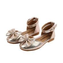Обувь для девочек; детские туфли принцессы с бантом стразы;