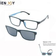 IENJOY Clip On Optical Frame Polarized Sunglasses Ultem Glasses Men Sun