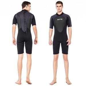 Image 4 - גברים חליפת צלילה שורטי 3mm Neoprene חורף חזרה Zip בגד ים לשחייה שנורקלינג גלישת קיאקים צלילה חליפה