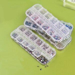 12 коробок/набор AB летние хрустальные стразы алмазные драгоценные камни событие праздник 3D блестящее украшение для ногтей красота|Стразы|   | АлиЭкспресс