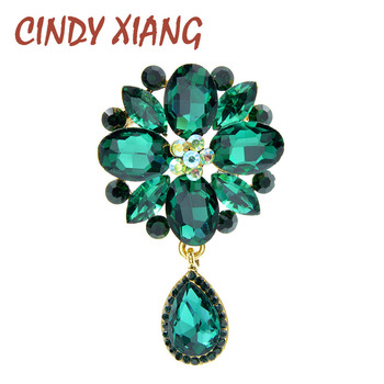 CINDY XIANG 4 colors avaibale crystal flower brooches for women wedding pin pendant brooch spring new arrival high quality gift cindy xiang 4 colors avaibale crystal flower brooches for women wedding pin pendant brooch spring new arrival high quality gift