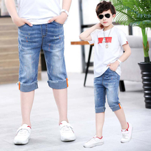DIIMUU Boys Jeans Classic Pants Child Denim Clothing Fit 4-13 Years Kids Summer Shorts