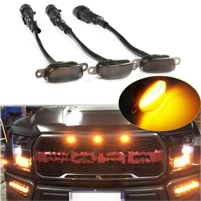 Auto Warnleuchten LED Kühlergrill Licht Stil Grill Rauch Für Ford F-150 F150 2010 2011 2012 2013 2014 2015 2016 2017 2018
