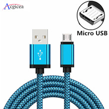 Micro USB Kabel 2A Schnelle Lade Nylon USB Sync Daten Handy Adapter Ladegerät Kabel Für Samsung Sony HTC LG android Kabel
