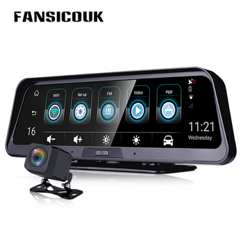 Car Dvr 4G ADAS Dash Camera Android 10'' Rearview Mirror Camera GPS WiFi Parking Monitor Recorder Dash Cam E98 image