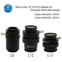 PHONEFIX 0.5X 0.35X 1X C mount Objektiv SZMC TV1/2 TV1/3 CTV Adapter Für Trinocular Stereo mikroskop Ersatz Zubehör-in Handwerkzeug-Sets aus Werkzeug bei