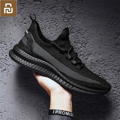 Xiaomi Mijia Youpin Новая мужская обувь, летающие тканые кроссовки, трендовая повседневная обувь, мужская обувь для фитнеса, бега, упражнений Смарт-гаджеты      АлиЭкспресс