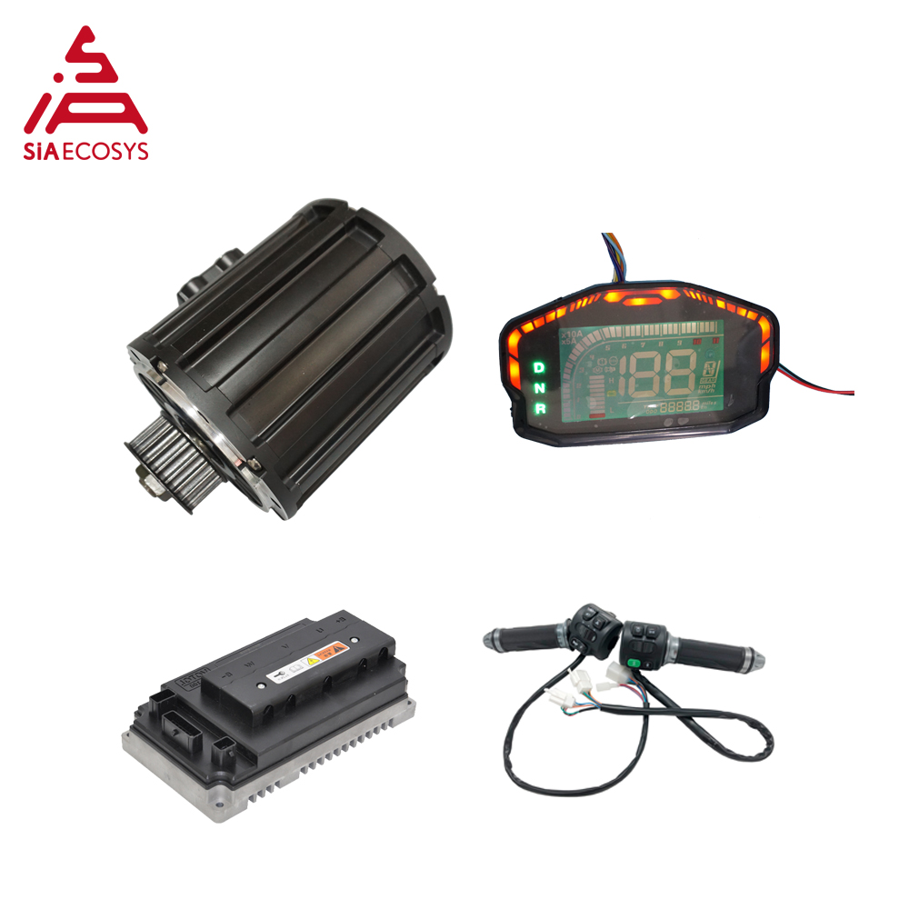 QSMOTOR 120 2000W Mid drive motor with EM72100SP controller and kits for electric motorbike Dirtbike 70KPH 72V image