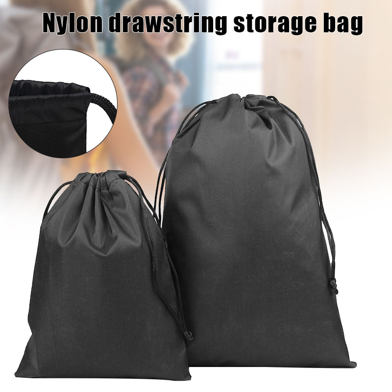 Nylon Drawstring Storage Pouch Multi-Functional Bag Ditty Storage Bags for Travel & Outdoor Activity from 15*20cm to 30*35cm H-b