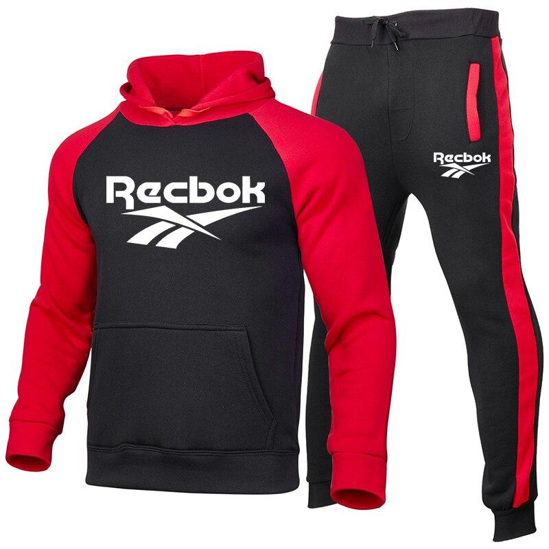 New Tracksuit Men's Sets Fashion Sportswear Color Splice Hoodie Vetement Homme Jogging Track Suit 2-Piece Set Hoodies +Pants