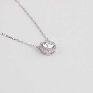 Image 5 - BOEYCJR 925 srebrny 0.5/1/1. 2/2ct F kolor Moissanite VVS zaręczynowy ślubny naszyjnik naszyjnik dla kobiet prezent na rocznicę
