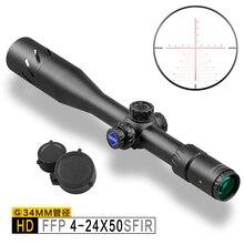 Дискавери HD 4-24 X50 FFP расширенные ружья прицелы Охотничья винтовка охотничья Оптика прицел Китай лучший