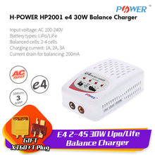 H-Power E4 2-4S Lipo/Life RC Balance Charger 1-3A 30W 100-240V Input T/XT60 plug for RC helicopter car Quadcopter