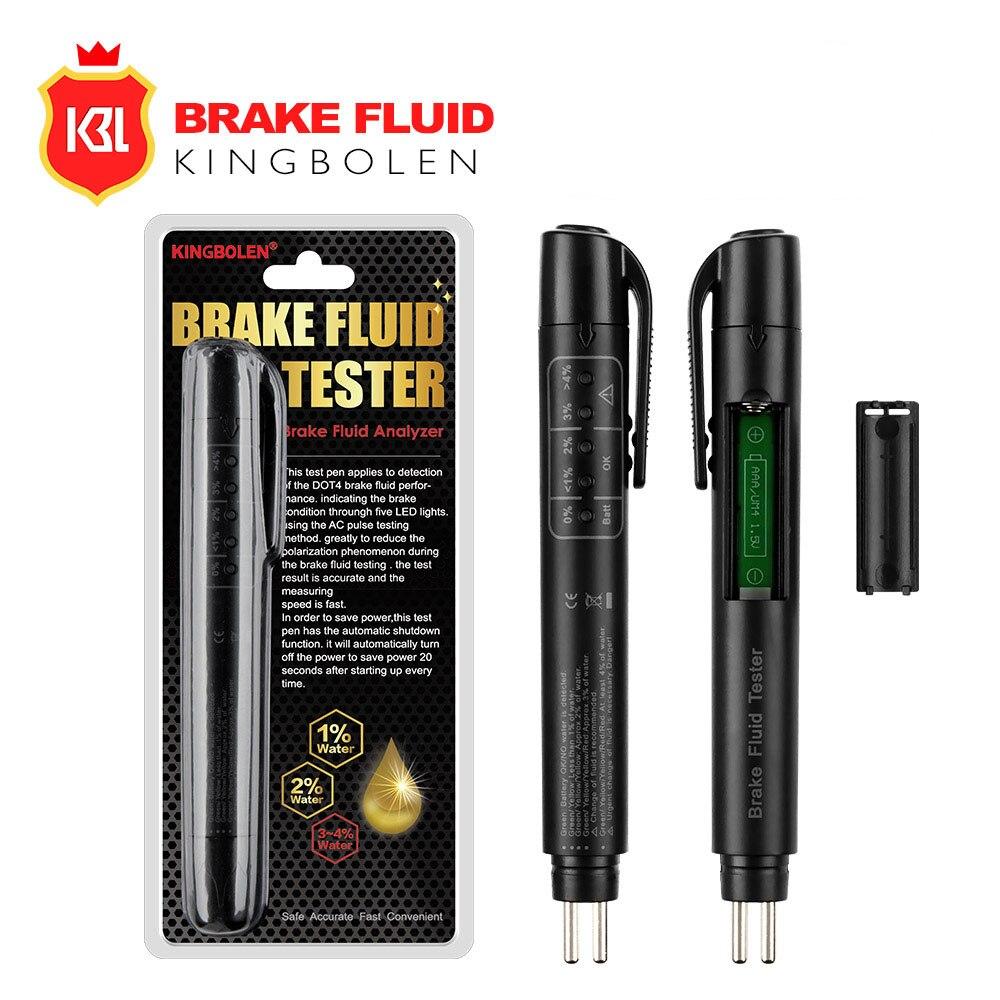 Car Brake Liquid Tester 5 Leds Brake Fluid Test Pen CAR Battery Tester For 12v Auto Voltage Checking Oil Pen For DOT3/DOT4/DOT5