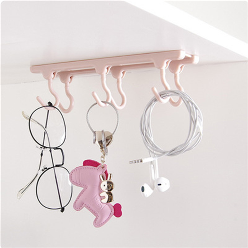Home Kitchen Cabinets Storage Racks 6 Hanging Kitchen Gadgets Strong Hooks Kitchen Accessories Decoration Kitchen Supplies