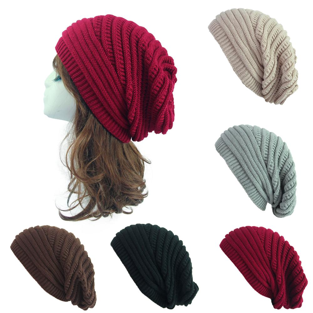 New Women's Winter Hat 2019 Fashion Knitted Hats Solid Thick And Warm Bonnet Skullies Beanies Soft Unisex Casual Knitted Beanie