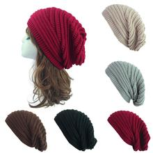 New Womens Winter Hat 2019 Fashion Knitted Hats Solid Thick and Warm Bonnet Skullies Beanies Soft Unisex Casual Beanie