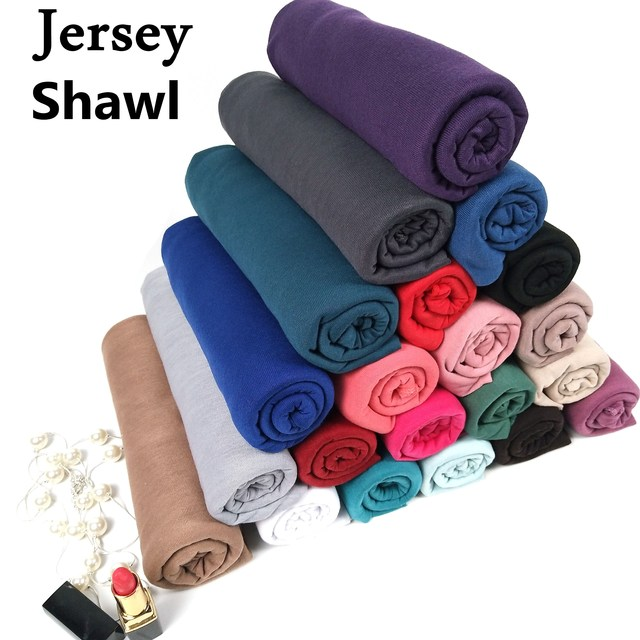 J1  10pcs 35color High quality jersey scarf cotton plain elasticity shawls maxi hijab long muslim head wrap long scarves/scarf