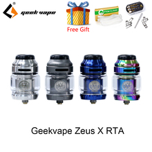 Newest Electronic Cigarette Geekvape Zeus X RTA 4.5ml tank with Delrin drip tip vape atomizer rta vs zeus rta fit aegis legend original thc proto rta tank with vape top filling 5ml capacity 304ss rebuildable suitable for e cigarette box mod vs zeus x rta