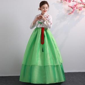 Image 5 - קוריאני Hanbok מסורתי ביצועים תלבושות עבור נשים אלגנטי Hanbok ארמון קוריאה חתונה Oriantal ריקוד תלבושות