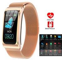 Pulsera inteligente reloj inteligente Monitor de ritmo cardíaco durante el sueño presión arterial Fitness Tracker reloj deportivo multicolor impermeable Android IOS