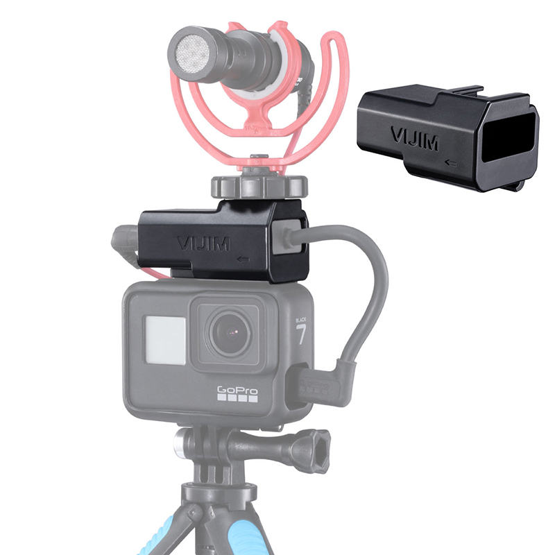 Microphone Mount For GoPro Hero 7/6/ Housing Mic Adapter , For Original Go Pro Case Frame With Universal Cold Shoe Accessories