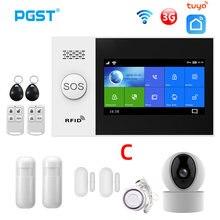 Pgst pg107 wifi 3g gsm sistema de alarme segurança em casa com camers ip pir sensor movimento suporte vida inteligente controle app