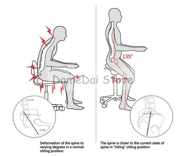 Эргономичный гидравлический стул вращающийся для офиса с регулируемой