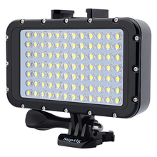 New 84 LED  waterproof light  Diving Fill Light for GoPro Hero8 7 6 5 4 Xiaomi Yi 4K SJCAM DJI Osmo Action Canon SLR Accessories цена