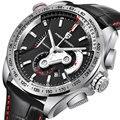PAGANI Дизайн Нержавеющая сталь хронограф мужские часы водонепроницаемые военные спортивные часы мужские кварцевые кожаные часы.
