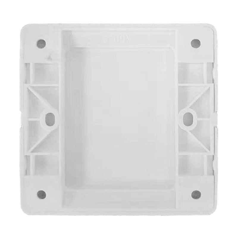 Duvar elektrik anahtarı soket boş kapak paneli beyaz tahta ABS çıkış plaka çerçeve aracı 86x86mm