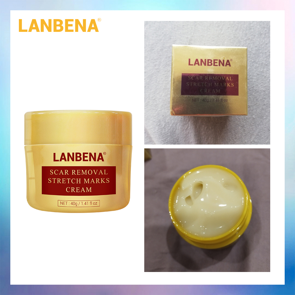 LANBENA Scar Removal Cream Acne Treatment Repairing Scar Blackhead Shrink Pores Whitening Moisturizing Skin Care 40g