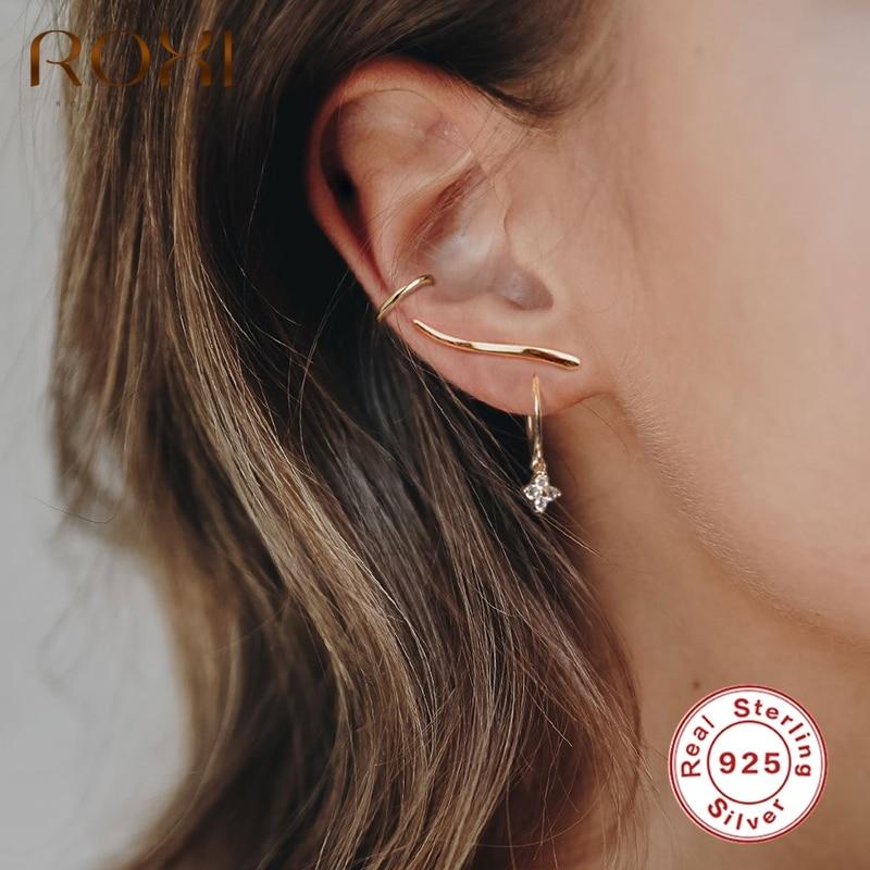 925 Sterling Silver Round Bar Stud Earrings Ear Jewellery Women Small