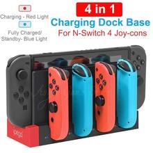 4 Joycon Charger Charging Dock Base Docking Station LED Indicator for Nintend Nitendo Nintendo Switch NintendoSwitch Joy Con